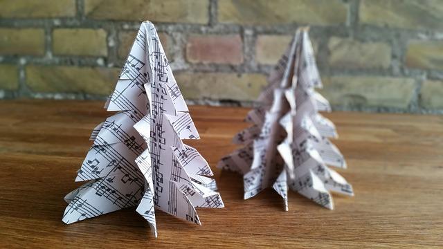 origami vánoční ozdoby