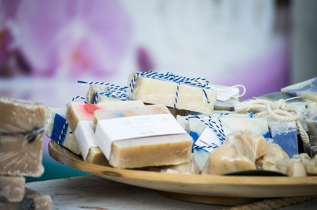 balené mýdlo