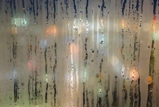 mokré okno